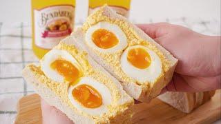 [eng]입에서 사르르 녹는 반숙 계란 샌드위치 만들기…