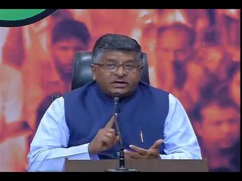 Press Conference by Shri Ravi Shankar Prasad at BJP Central Office, New Delhi: 04.10.2016