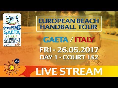 Re-Live: European Beach Handball Tour - Finals   Day1   Gaeta / Italy (Part 1)
