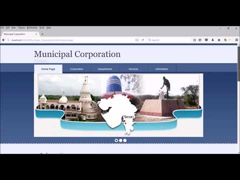 Demo version of website of Municipal Corporation of Navsari (City guideline) using Asp.net with C#