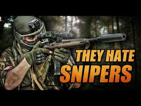THEY HATE SNIPERS! Paintball sniper hunter!