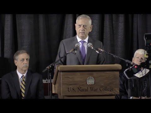 Watch Defense Secretary Mattis' US Naval War College 2018 Commencement Address