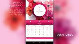 Period Calendar - Menstrual Tracker - Intro&Howto screenshot 2
