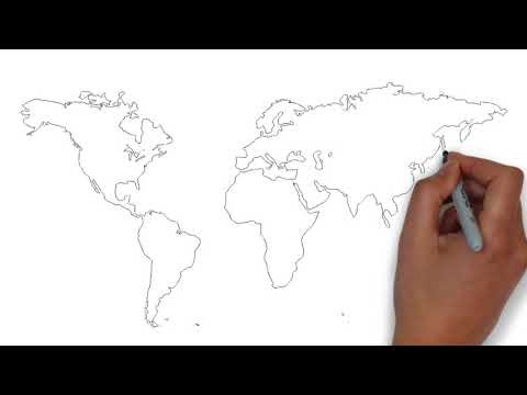 How To Draw World Map ? - YouTube