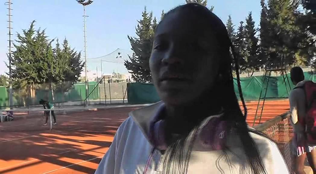 CHAMPIONNATS D'AFRIQUE DE TENNIS DES JEUNES  INTERVIEW LINDA