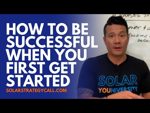 How to be successful when you're new to solar