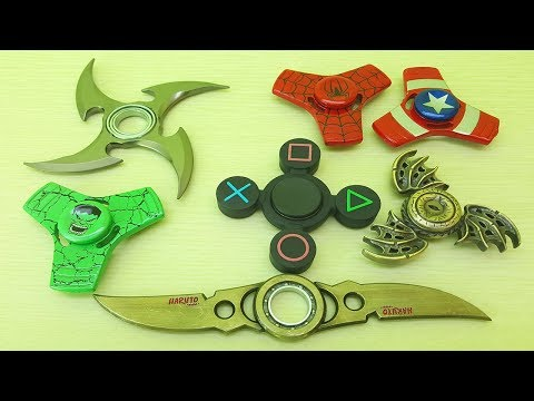 SPINNERS FIDGET MY BEST 7 FIDGET SPINNER COLLECTION VIDEO FOR KIDS