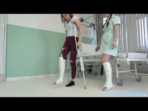 🚑 Nurse and Patient in Plaster Leg Casts!