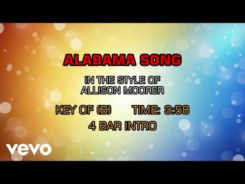 Allison Moorer  Alabama Song Karaoke