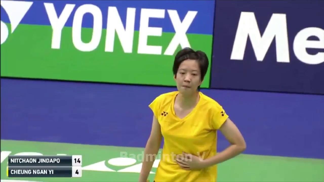CHEUNG Ngan Yi vs Nitchaon JINDAPOL R badminton cup hongkong 2016