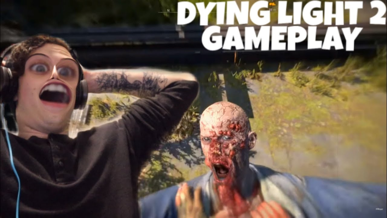 DYING LIGHT 2 GAMEPLAY!?| REACTION| YOU HAVE PARACHUTES!!!! thumbnail