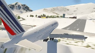 Big Planes at Courchevel Airport [XP11]
