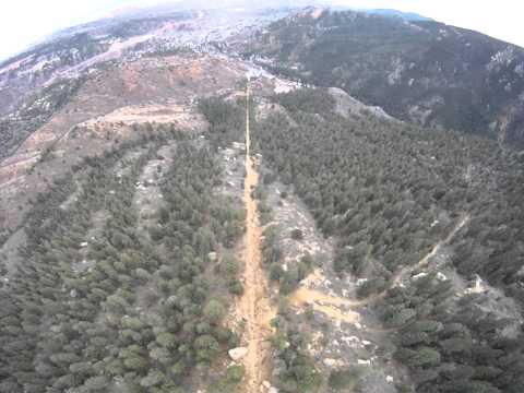 Drone helicopter tour of the Manitou Incline