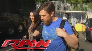 Daniel Bryan arrives at Raw to address his retirement: February 8, 2016