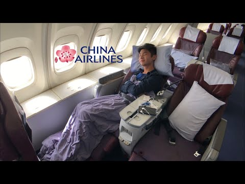 CHINA Airlines B747 BUSINESS Class: CI904 Hong Kong To Taipei