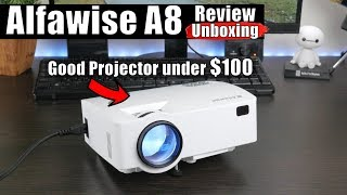 Alfawise A8 REVIEW: 100 Projector di bawah $ 100 (Android, 4K support & 1800 Lumens)