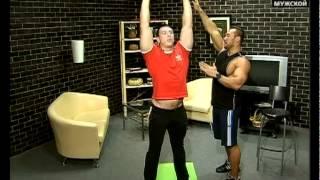 Упражнения для спины с гантелями. Зарядка на Мужском 07(В детстве будущие мужчины активно занимаются спортом. По крайней мере, в школе существуют уроки физ-ры...., 2012-04-05T11:06:01.000Z)