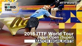 2016 Japan Open Highlights: Tomokazu Harimoto vs Hugo Calderano (U21-1/2)