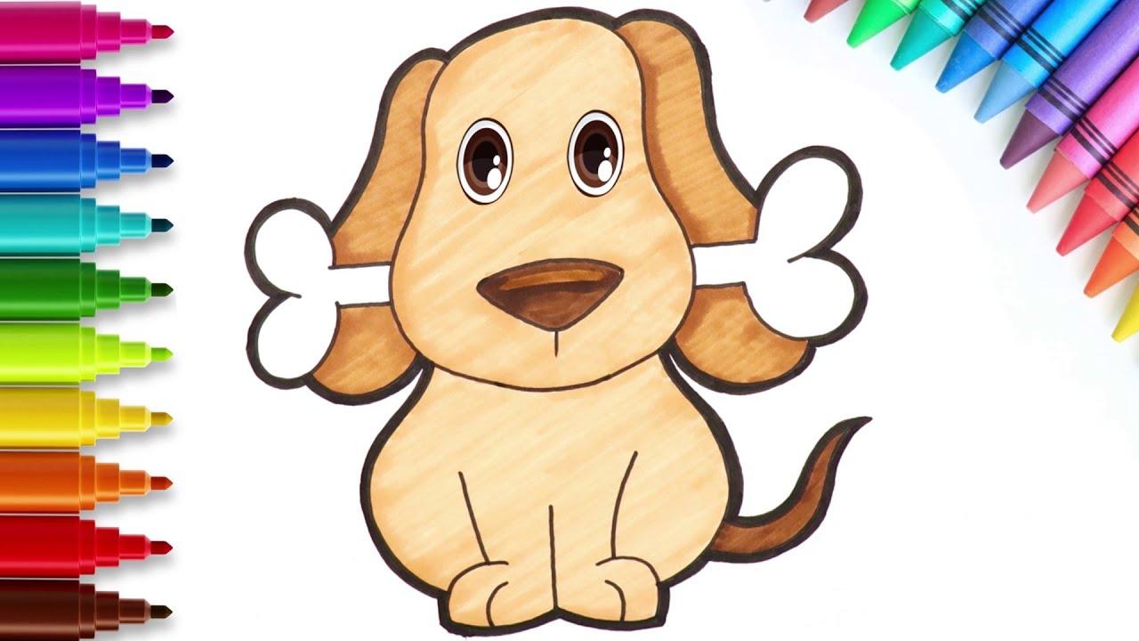 Cómo dibujar un perrito - Dibujos sencillos | Chiki-Arte Aprende a Dibujar
