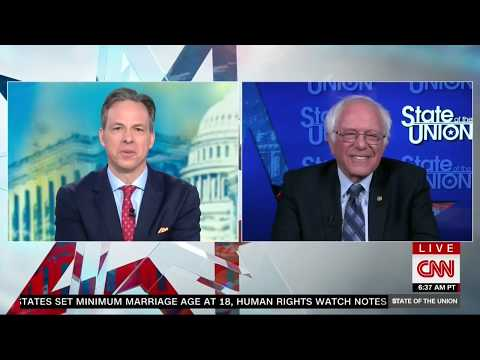 BERNIE SANDERS FULL INTERVIEW ON STATE OF THE UNION WITH JAKE TAPPER (5/13/2018)