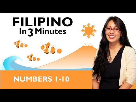 Learn Filipino - Filipino in Three Minutes - Numbers Part 1