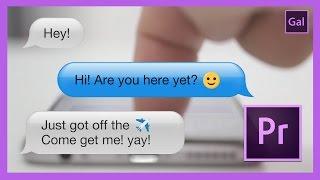 Mensaje de texto de Animación en adobe Premiere Pro CC