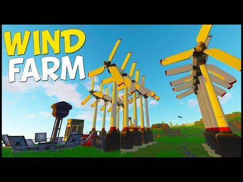 MASSIVE WIND FARM to POWER LASERS! - Eco World Survival #11