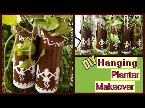 diy-hanging-planter-||-simple-and-easy-warli-painting-||-hanging-decoration-ideas