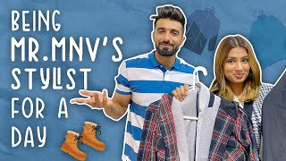 Being Mr.Mnv's Stylist For a Day | Aashna Hegde