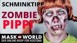 Zombie Pippi Langstrumpf Halloween Makeup Tutorial deutsch