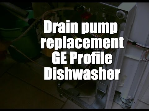 GE Profile Dishwasher Drain Pump Replacement on