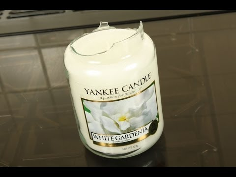 How to save a broken yankee candle - cracked candle jar