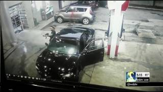RAW VIDEO: Surveillance camera shows shootout at Atlanta gas station