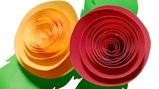How to make a paper flowers - paper art design and paper cutting flowers