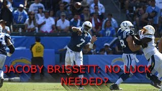 Jacoby Brissett shows he doesnt need LUCK to lead the Colts!