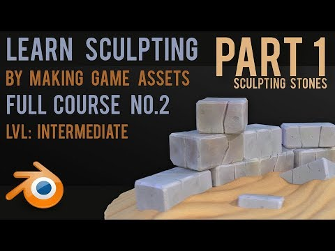 Make Game Assets by Sculpting - Stones - Blender