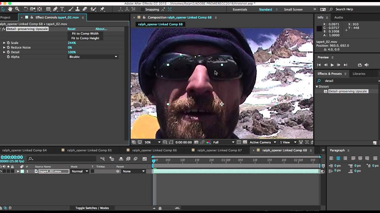 How to convert SD to HD using Premiere Pro & Adobe After Effects CC -  detail preserving upscale