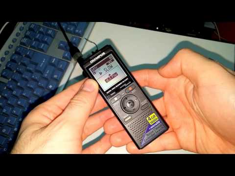 How to change Audio Playback-Speed (Olympus VN-733PC Sound Recorder)