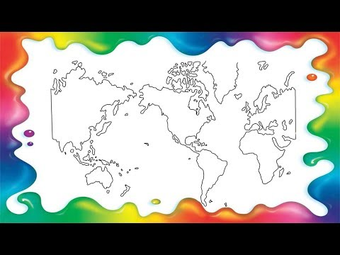 How To Draw World Map Step By Step For Kids Youtube