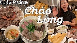 Cách nấu cháo lòng cực kỳ đơn giản thơm ngon - Pork organs porridge - Taylor Recipes - Cuôc sống Mỹ