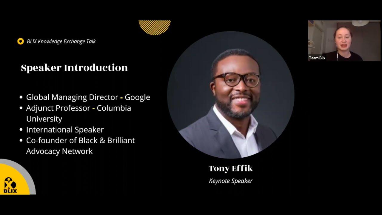 Objective Difference Keynote   Tony Effik   BLIX Network