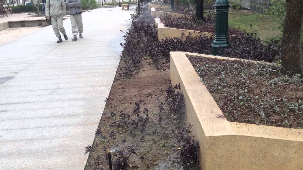 Tưới tự động Rain Bird tại Splendora Bắc An Khánh, Hà Nội
