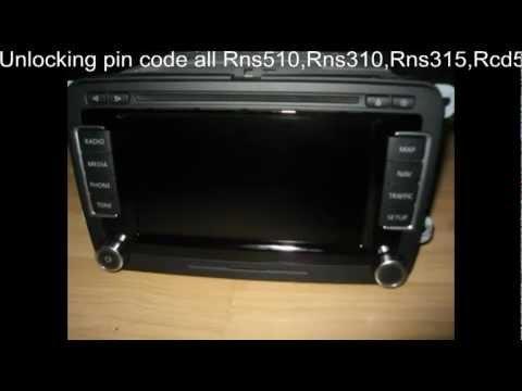 pin code rns 510 unlocking vw radio rns510 rcd510 rns315. Black Bedroom Furniture Sets. Home Design Ideas