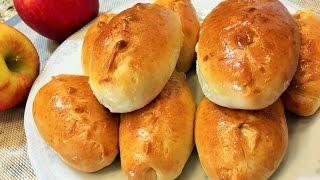 Домашние ПИРОЖКИ С ЯБЛОКАМИ в духовке.  Homemade pies with apples in the oven.