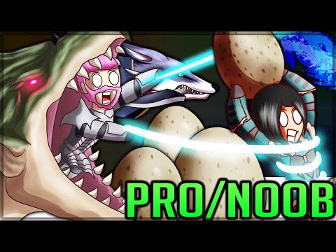 EGGS LAVA AND MARIO KART - Pro and Noob VS Monster Hunter Rise Demo! #proandnoob #rise #risegameplay
