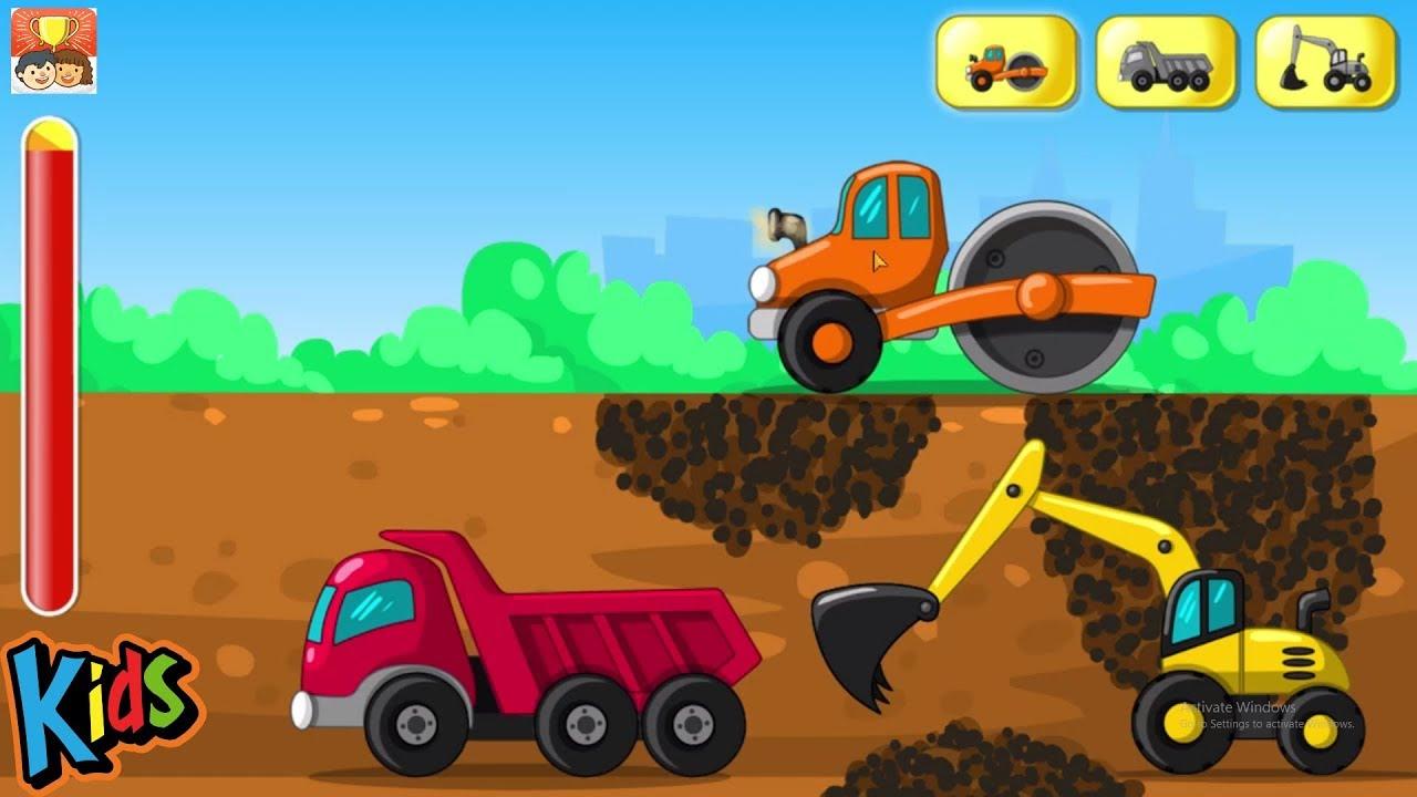 Mainan Bulldozer Excavator Dump Truck Dan Truk Molen Bego Permainan Kartun Untuk Anak Anak Part 4 Youtube
