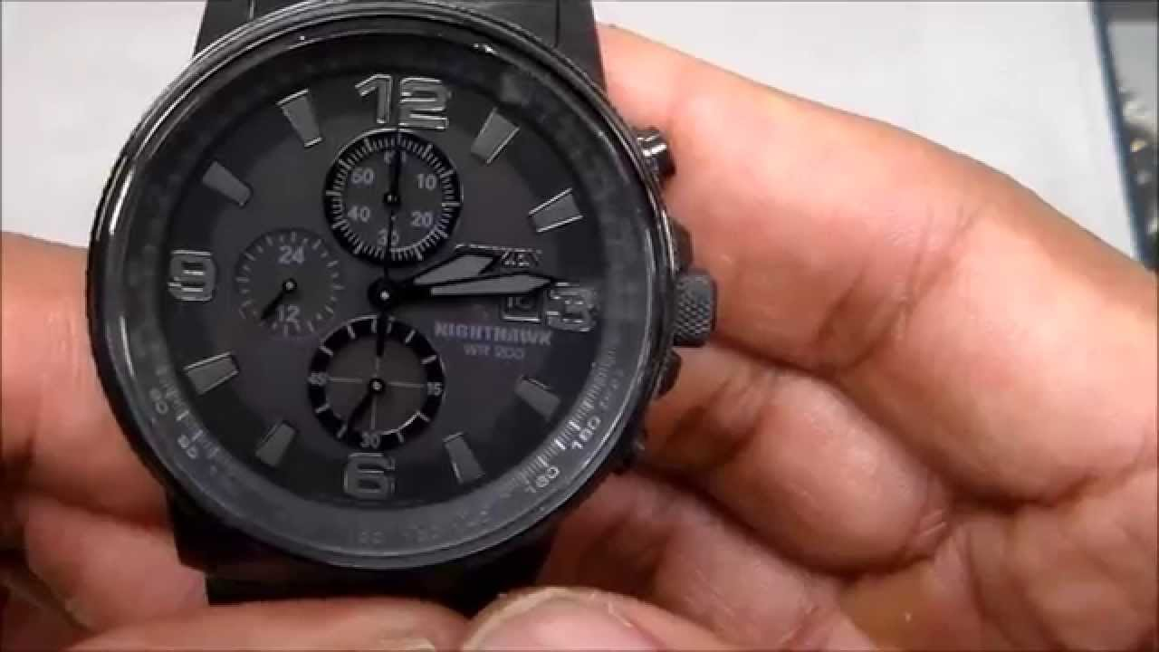 aec2a728b66 Citizen Eco-Drive Nighthawk Review - YouTube
