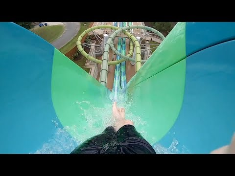 SECRETLY RECORDING THE MOST TERRIFYING WATER SLIDE IN WATER COUNTRY USA