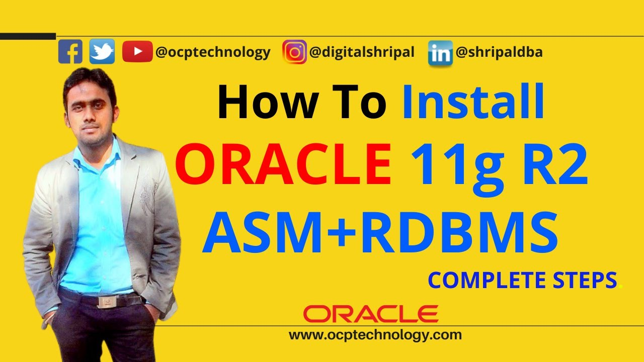 How to install Grid infrastructure ASM with RDBMS in ORACLE 11g R2 ✓ | 100%  working