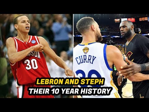 The Incredible History Between LeBron James And Steph Curry